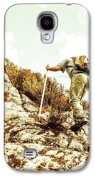 Rock Climbing Mountaineer Galaxy S4 Case by Jorgo Photography - Wall Art Gallery