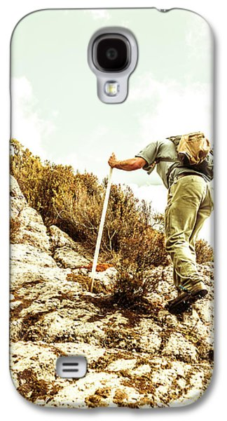 Rock Climbing Mountaineer Galaxy S4 Case by Jorgo Photography - Wall Art Gallery
