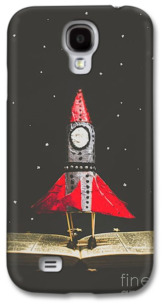Rockets And Cartoon Puzzle Star Dust Galaxy S4 Case