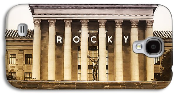 Rocky Balboa On The Art Museum Steps Galaxy S4 Case by Bill Cannon