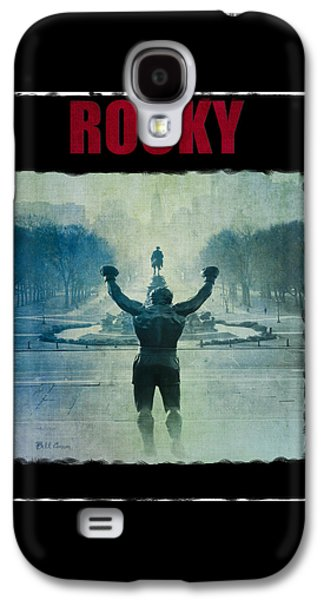Rocky Balboa On Top Of The Art Museum Steps Galaxy S4 Case by Bill Cannon