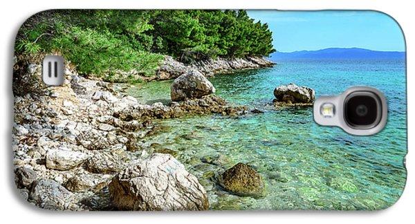Rocky Beach On The Dalmatian Coast, Dalmatia, Croatia Galaxy S4 Case