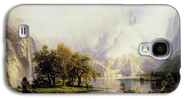 Rocky Mountain Landscape Galaxy S4 Case by Albert Bierstadt