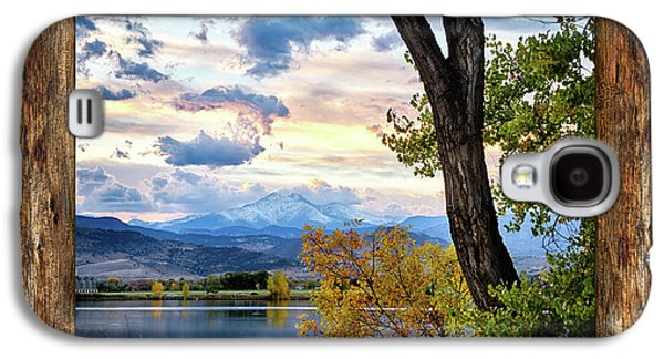 Rocky Mountain Longs Peak Rustic Cabin Window View Galaxy S4 Case by James BO Insogna