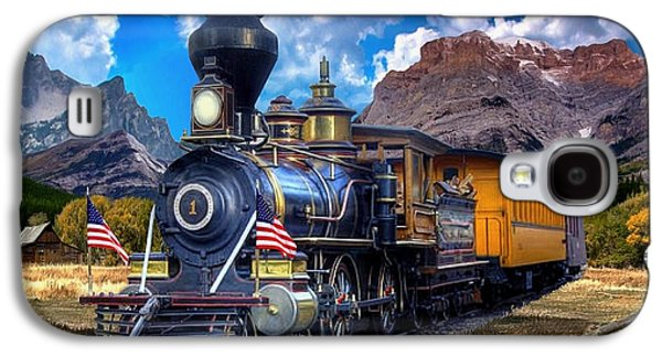 Rocky Mountain Train Galaxy S4 Case by Ron Chambers