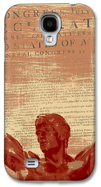 Rocky Statue Declaration Of Independence Galaxy S4 Case by Brandi Fitzgerald