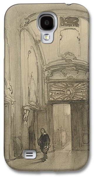 Rococo Portal In City Hall In The Hague With A Man In Seventeenth-century Costume Galaxy S4 Case