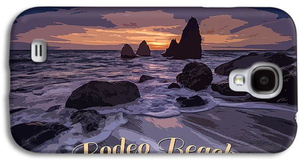 Rodeo Beach Vintage Tourism Poster Galaxy S4 Case
