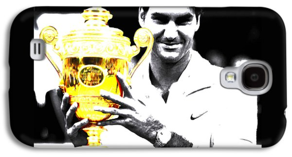 Roger Federer Galaxy S4 Case by Brian Reaves
