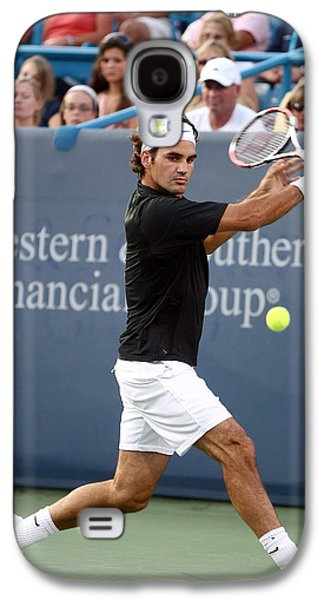 Tennis Photographs Galaxy S4 Cases - Roger Federer Galaxy S4 Case by Keith Allen