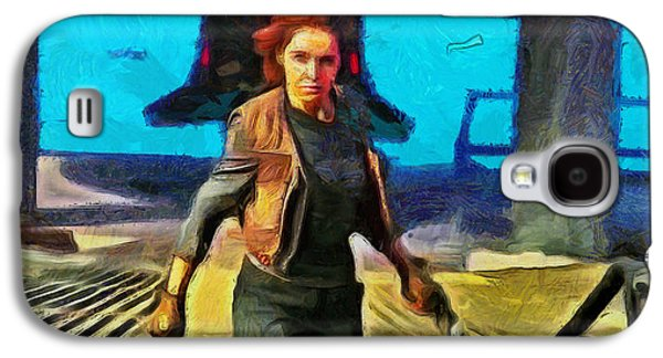 Rogue One Jyn Erso And Weapon - Da Galaxy S4 Case