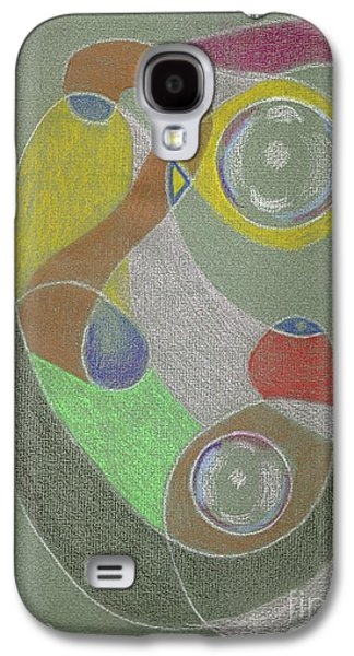 Galaxy S4 Case featuring the drawing Roley Poley Vertical by Rod Ismay