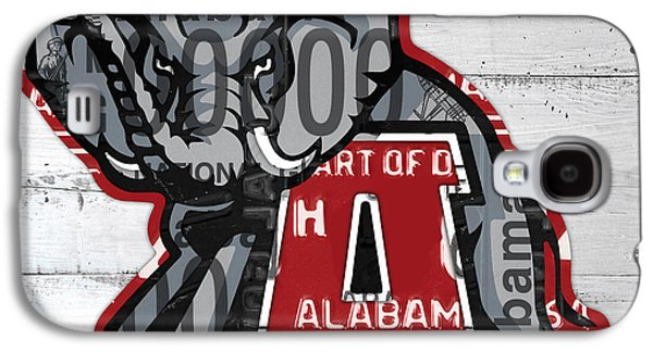 Roll Tide Alabama Crimson Tide Recycled State License Plate Art Galaxy S4 Case by Design Turnpike