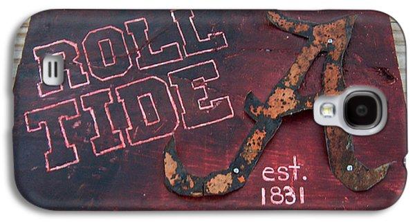Roll Tide Alabama Galaxy S4 Case by Racquel Morgan