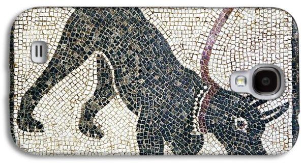 Working Dog Galaxy S4 Cases - Roman Guard Dog Mosaic Galaxy S4 Case by Sheila Terry