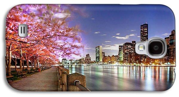 Cherry Blossoms Galaxy S4 Case - Romantic Blooms by Az Jackson