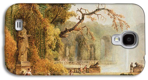Romantic Garden Scene Galaxy S4 Case by Hubert Robert