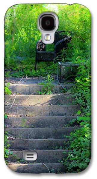 Garden Scene Galaxy S4 Cases - Romantic Garden Scene Galaxy S4 Case by Teresa Mucha