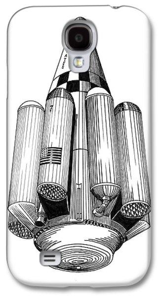 Rombus Heavey Lift Reusable Rocket Galaxy S4 Case by Jack Pumphrey