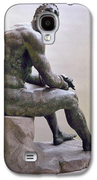 Rome Boxer Sculpture Galaxy S4 Case by Granger