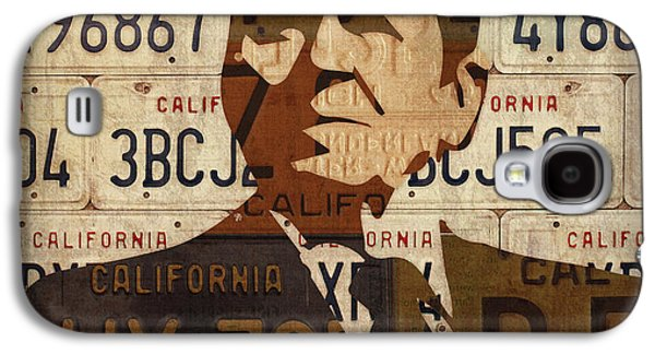 Ronald Reagan Presidential Portrait Made Using Vintage California License Plates Galaxy S4 Case
