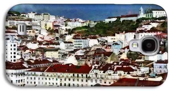 Portuguese Mixed Media Galaxy S4 Cases - Roofs of Lisbon Galaxy S4 Case by Dariusz Gudowicz