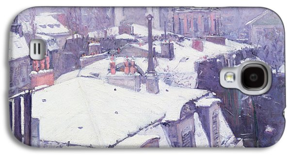 Paris Galaxy S4 Case - Roofs Under Snow by Gustave Caillebotte