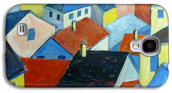 Rooftops In France Galaxy S4 Case by Saga Sabin