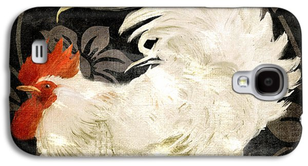 Rooster Damask Dark Galaxy S4 Case