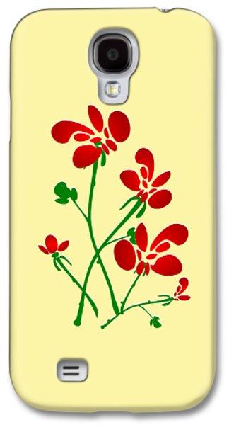 Rooster Flowers Galaxy S4 Case by Anastasiya Malakhova