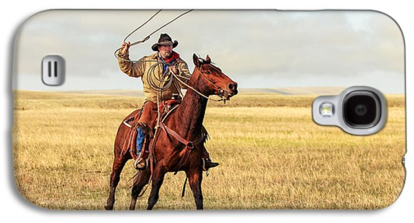 Roping On The High Plains Galaxy S4 Case