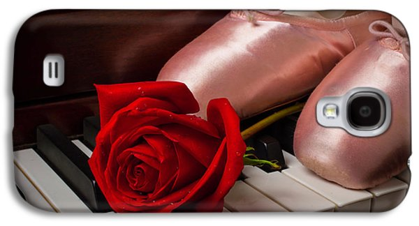 Rose And Ballet Shoes Galaxy S4 Case by Garry Gay