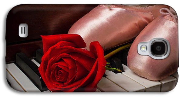 Rose And Ballet Shoes Galaxy S4 Case