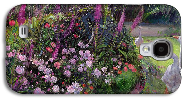 Rose Bed And Geese Galaxy S4 Case by Timothy Easton