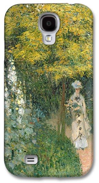Park Galaxy S4 Cases - Rose Garden Galaxy S4 Case by Claude Monet