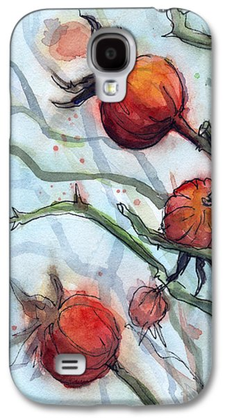 Rose Hips Abstract  Galaxy S4 Case