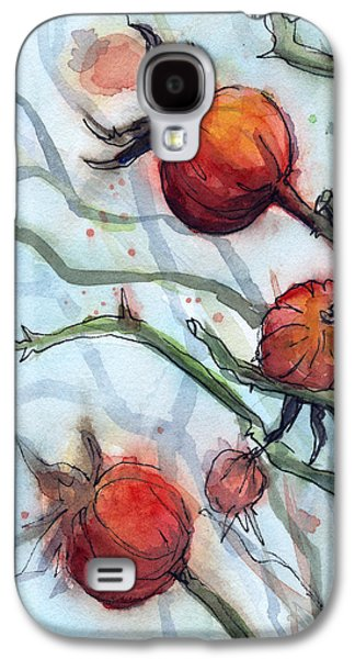 Rose Hips Abstract  Galaxy S4 Case by Olga Shvartsur