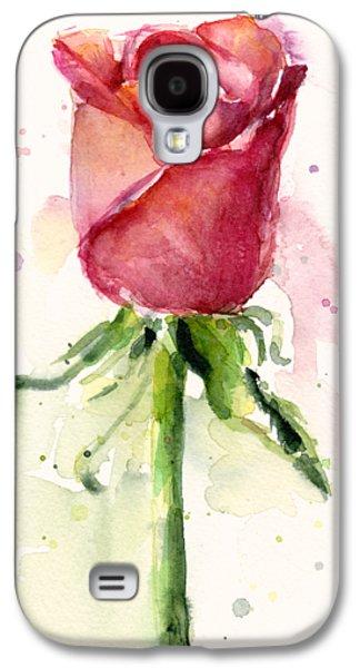 Rose Watercolor Galaxy S4 Case by Olga Shvartsur