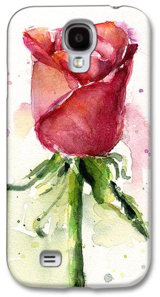 Rose Watercolor Galaxy S4 Case