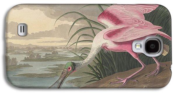 Roseate Spoonbill, 1836  Galaxy S4 Case by John James Audubon