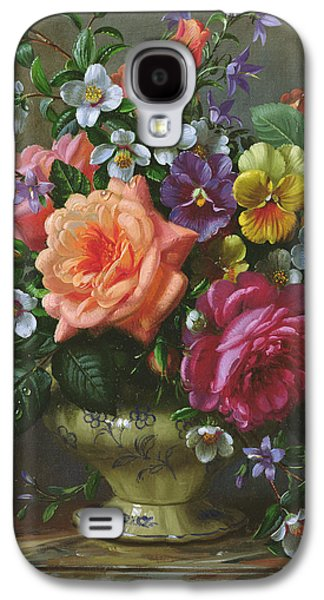 Roses And Pansies Galaxy S4 Case by Albert Williams