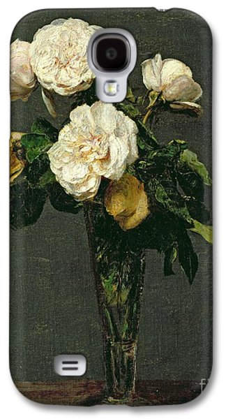 Rose Galaxy S4 Case - Roses In A Champagne Flute by Ignace Henri Jean Fantin-Latour