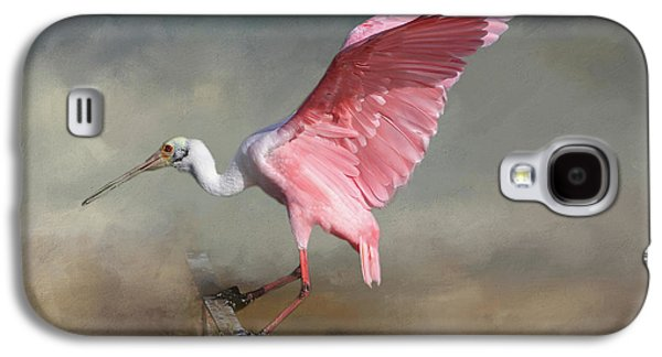 Spoonbill Galaxy S4 Case - Rosy by Donna Kennedy