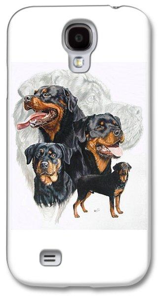 Rottweiler W/ghost  Galaxy S4 Case
