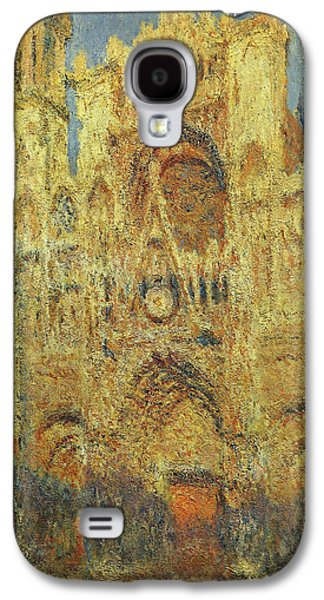 Rouen Cathedral At Sunset Galaxy S4 Case by Claude Monet