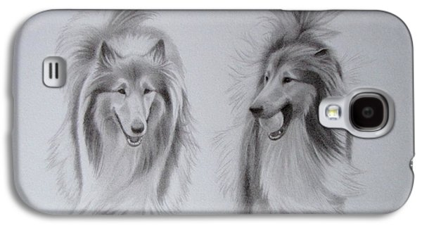 Rough Collie Sisters Galaxy S4 Case
