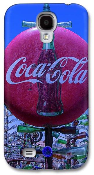 Round Coca Cola Sign Galaxy S4 Case by Garry Gay