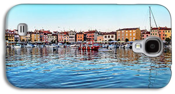 Rovinj Harbor And Boats Panorama Galaxy S4 Case
