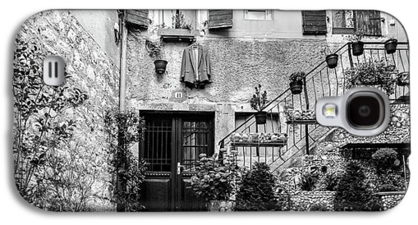 Rovinj Old Town Courtyard In Black And White, Rovinj Croatia Galaxy S4 Case