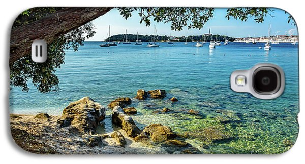 Rovinj Old Town, Harbor And Sailboats Accross The Adriatic Through The Trees Galaxy S4 Case